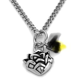 Stainless Steel Silver Color Buddha Pendant With Necklace photo review